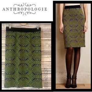 NWT Anthro Maeve Medallion Pencil Skirt, Sz Med